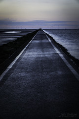 Path To The Horizon (JoshSuttonPhotography) Tags: horizon path leadinglines dusk evening sea ocean coast coastal coastline westkirby wirral uk water waterscape waterscapephotography landscape landscapephotography nature natural orangesky atmospheric dark seascape seascapephotography photography sonya6000 sonymirrorless