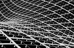 [g r i d]. (pictob) Tags: grid pattern abstract bw black white blackandwhite roof graphic munich münchen olympiastadion olympicstadium wave nikon lines