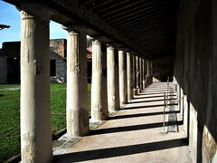 Portico (after 62 AD) of Stabian Thermae at Pompeii (Carlo Raso) Tags: pompeii stabianthermae italy column