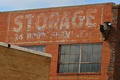 Storage Ghost Sign, North Platte, NE (Robby Virus) Tags: northplatte nebraska ne ghost sign signage 24 hour service brick wall ad advertisement storeage