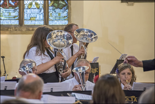 Euphonium Duet starring Stuart Briggs and Kira Roberts.  Playing Deep Inside the Sacred Temple.  Photo courtesy of Clive Sutton.