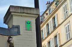 Mr Djoul_5262 passage Saint Sébastien Paris 11 (meuh1246) Tags: streetart paris mrdjoul passagesaintsébastien paris11 alien mosaïque