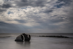 Mary's Shell... a return (andyrousephotography) Tags: cleveleys marysshell sculpture stephenbroadbent steel shell beach sea hightide evening sunny leefilters 09hardndgrad 06mediumndgrad 10stopper andyrouse canon eos 5d mkiii ef24105mmf4l
