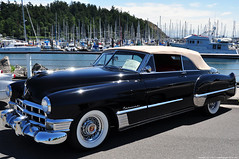 1949 Cadillac Convertible (2048x1360) (-jon) Tags: anacortes fidalgoisland sanjuanislands skagitcounty skagit washingtonstate washington salishsea pnw pacificnorthwest car carshow custom waterfront festival a266122photographyproduction convertible marina 1949 cadillac automobile auto chrome bumper whitewall tires black sailboats capsante classic