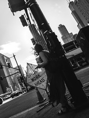 Fuji Finepix Z90 street photos 3rd week May 2017 B-W pic15 (Artemortifica) Tags: blueline cta chicago finepixz90 fujifilm fujinon lakest may michiganave state blackandwhite bridges buildings buses candid commuters downtown performance redline street trains