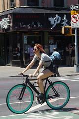 Girl on bike (Xu@EVIL Cameras) Tags: wollensak raptar 50mm f2 lens head