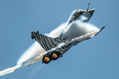 Hear the Tiger Roar (Nick Collins Photography, Thanks for 2.75m views) Tags: dassault rafale m tiger flying aircraft airshow aviation military canon 7dmk2 500mm afterburner french france navy vapor vapour yeovilton somerset