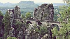 Basteibrücke ('TIGER') Tags: basteibrücke sachsen lohmen rathen bastei dresden felsenburg neurathen nature bridge germany pirna