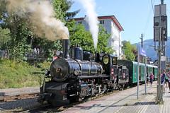 169 steam locomotive (Roger Wasley) Tags: 169 steam locomotive train bosnian herzegovina state railways zellamsee station austria austrian europe european budapest pinzgau mountains krimml pinzgauerlokalbahn club760 73019