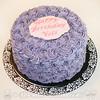 Lavender Rosettes Birthday Cake