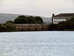 Sluice Gates, Porthmadog 2017 (Dave_Johnson) Tags: sluicegates sluice afonglaslyn glaslyn dusk britanniabridge bridge llynbach harbour lake portmadoc porthmadog gwynedd wales