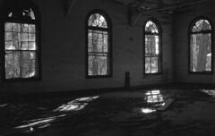 Inside Abandoned Church #2 (PositiveAboutNegatives) Tags: leicaflexsl leica vintageslr 35mmelmarit film analog fuji neopan abandoned empty vacant derelict church coolscan nikon9000scanner gulfhammock florida