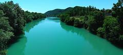 Il fiume smeraldo (pagati) Tags: panorama landscape isonzo gorizia fiume river verde green smeraldo emerald