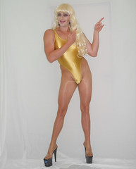 My new vid (queen.catch) Tags: catchqueenyoutube video uploaded new heels pantyhose shiny nylons pleasers thong leotard blonde femme femboy drag queen shemale feminization tranny glow netflix