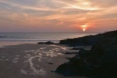 Sunset at Treyarnon Bay