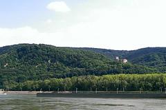 Greifenstein Castle at the Danube (rhomboederrippel) Tags: rhomboederrippel htc onemini june 2017 austria loweraustria greifenstein danube river castle tree forest wienerwald