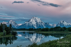 Pastel colored skies at Oxbow Bend