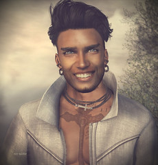 """""""So many languages in the world, and a smile speaks them all."""" :) (Roy Mildor - I am how I am !) Tags: roymildor sl secondlife portrait photography profil profile man cool grins"""