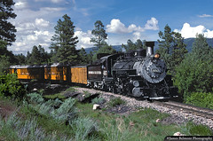 Rio Grande K-37 on the Durango & Silverton (jamesbelmont) Tags: locomotive narrowgauge durange silverton k37 497 steam coal pinkerton