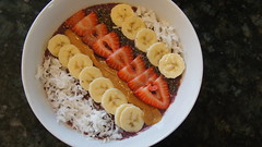 Smoothie Bowl (theariurena) Tags: smoothie smoothies smoothiebowl fruits vegetables summer art hipster bananas strawberries nature kitchen cooking chiaseeds superfood coconut tropical beach