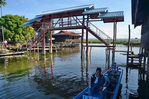 Footbridge in Nga Pha Kyaung