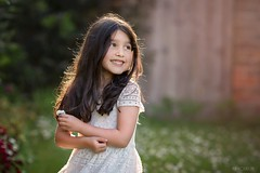 Happy (Aga Wlodarczak) Tags: girl child children outdoor outdoors sunset goldenhour backlight backlit portrait naturallight canon 6d 135mm 135mmf2