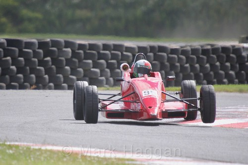 Luke Williams in the Formula Ford FF1600 championship at Kirkistown, June 2017