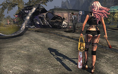 Walking Dead Hunting (Opale Lily) Tags: outbreak roleplayer zombie hunting urban lfe vw how ama rebelhope tableauvivant