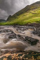 Rush hour...... (Einir Wyn Leigh) Tags: river landscape green mountains scotland love happy nikon light sky rain wel water outside rocks