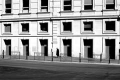 The small lady (pascalcolin1) Tags: paris13 austerlitz dame lady femme woman petite small immeuble building fenetres windows portes doors photoderue streetview urbanarte noiretblanc blackandwhite photopascalcolin