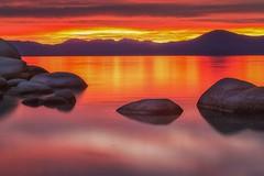 (Marc Crumpler (Ilikethenight)) Tags: landscape nevada usa laketahoe sandharbor lake rocks boulders sunset clouds water marccrumpler canon canon6d 6d 24105mmf4l mountains sierranevadamountains reflection