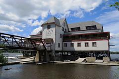 The Ottawa New Edinburgh Club Boathouse in Ottawa, Ontario (Ullysses) Tags: ottawanewedinburghclub boathouse ottawariver ottawa ontario canada summer été rivièredesoutaouais cpmeredith