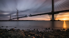 Forth Sunset (Bastian.K) Tags: schottland bridge brücke sunset sunrise dusk dawn nisi filters polarizer nd 30 18 combined long exposure cloud clouds cloudy sky color colorful colors zeiss loxia 21mm 28 loxia2128 czj carl scotland scottland scott scottisch schotte schottisch edinburgh queensferry crossing lap leonhardt andrä und partner