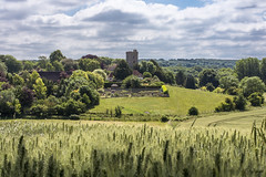 A walk in the Kent countryside (Tony_Brasier) Tags: kent bluesky very hot grass green church faversham lovely location nikon flickr farm fields fun house d7200 50mm boughton canterbury m2 motorway inspiredbylove