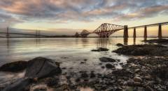 Twilight on the Forth (Ian Ryall) Tags: forth bridge sunset twilight scotland