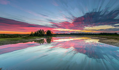 Slufters Cloud Stack (nicklucas2) Tags: newforest slufters pond reflection sunrise dawn cloud water landscape stack cloudsstormssunsetssunrises