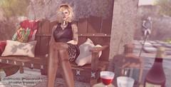 Snapshot_the_late_sun_of_the_day (jeffresident) Tags: tanja jeff jeffferie bebe nylons stockings maitreya sun blonde glasses light shadow beauty mesh meshbody wewanttobefree coffeetime canceledgroup heels outdoor black