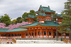 Heian Shrine (johnshlau) Tags: heianshrine brightlycolored bright colorful castle peacefulness tranquility calmness peace 平安神宫 architecture weepingcherrytrees cherry trees blossoms fullbloom temple cherryblossoms kyoto japan flowers flora nature pink spring springtime 京都 orange green shrine