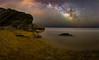 CG 18/6. (2) (J. Cuenca) Tags: playa milkyway astrofotografia nigthlandscape rocas agua mar calblanque cartagena murcia víalactea can canon tranquilidad estr estrellas cielo