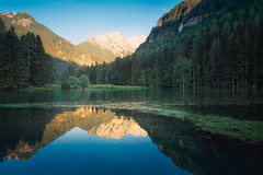Chilling down on a lake (Dejan Hudoletnjak) Tags: landscape slovenia lake jezersko canoue canu boat nature green reflections mountains unnin stunning capture