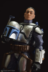 """""""I'm just a simple man, trying to make my way in the universe."""" (Rezso Kempny) Tags: star wars episode ii 2 attack clones aotc jango fett bounty hunter hasbro black series 6 inch inches helmet mandalorian face"""