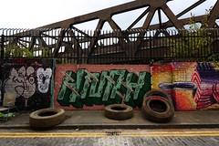 Spitalfields (NovemberAlex) Tags: colour london urban spitalfields streets graffiti streetart bridges