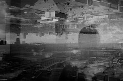 as.placeless.as.smoke (jonathancastellino) Tags: toronto northyork architecture figure silhouette abstract doubleexposure multipleexposure film analog analogue lomo lomography lca ilford xp2 gaze place dream thought smoke distance hair whisp