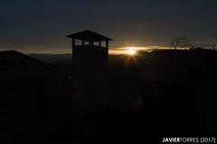 Evening star (The Whisperer of the Shadows) Tags: sun sol sunset dusk atardecer ocaso nubes clouds building edificio montaña mountains chimney chimenea shine brillo landscape paisaje silhouette silueta geotagged