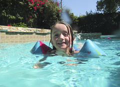 Luna Day 1334 (evaxebra) Tags: luna swim swimming pool summer water floaties solo