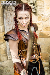 IMG_9478.jpg (Neil Keogh Photography) Tags: silver whitbygothweekend steampunk sword shoulderguards viking brown steampunkdress armguards red warrior goth armour blouse whitby top female woman whitbygothicweekendapril2017 facepaint black gothic trousers leather waistcoat white