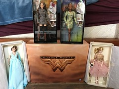 25% off Barbie Haul! 😍😱😍🎉 it's hard to feel bad when they are all so Wonderful! (Unicornsandwolfs) Tags: doll trevor steve giftset paradiseisland set mini metallic sweater blacklabel gown ball chiffon blue dress cocktail gold blush model fashion wonderwoman look mattel barbie
