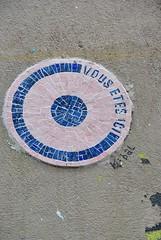 K-Bal (emilyD98) Tags: insolite street art paris rue mur wall collage kbal vous êtes ici mosaique mosaic la butte aux cailles 13 ème 75013 urban exploration city ville installation k bal