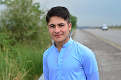 Portrait (basitkhan7) Tags: hairstyle men pukhtoon nikon d5100 50mm yongnuo portrait natural green highway roads pakistan
