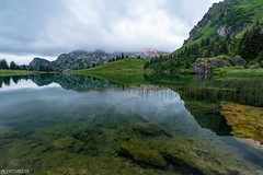 Last light - Seebergsee (Captures.ch) Tags: 2017 alp black blue brown calm capture clouds diemtigtal evening gras gray hills lake landscape last light mountains nature naturpark orange perfect pink red reflection schweiz see seebergsee stones sunset swiss switzerland trees water white yellow